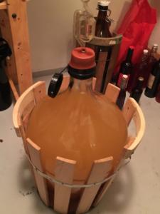 Cider i damejeanne